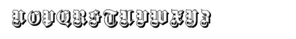 Fette Gotische Maiuskel Shadow Font UPPERCASE