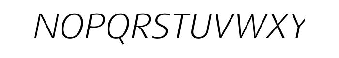 FF Dax Pro Wide Light Italic Font UPPERCASE