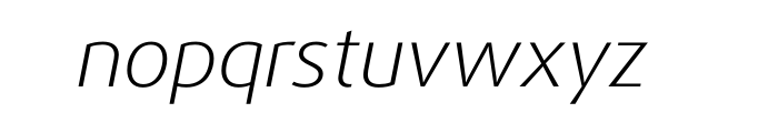 FF Dax Pro Wide Light Italic Font LOWERCASE