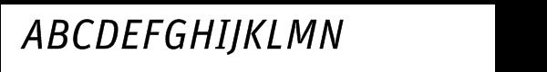 FF Unit Italic Font UPPERCASE