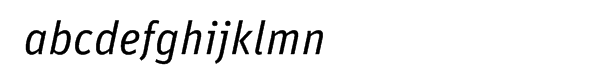 FF Unit Italic Font LOWERCASE