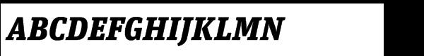FF Unit Slab Std Black Italic  What Font is