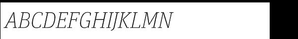 FF Unit Slab Std Thin Italic  What Font is