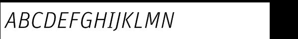 FF Unit Std Light Italic  What Font is