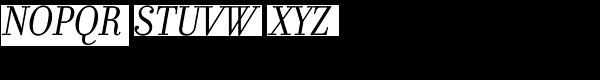 Filosofia Italic Font UPPERCASE