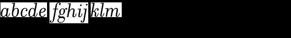 Filosofia Italic Font LOWERCASE