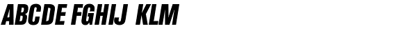 Folio Condensed Bold Italic Font UPPERCASE