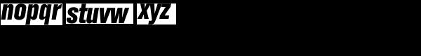Folio Condensed Bold Italic Font LOWERCASE