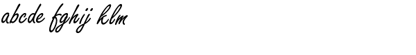 Freestyle Script Font LOWERCASE