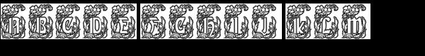 Gans Gotico Globo Decorative Outline  What Font is