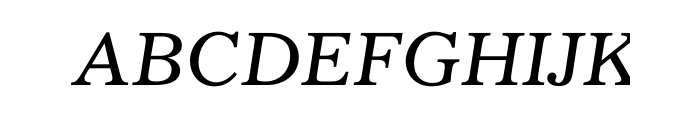 Gazette Std Italic Font UPPERCASE