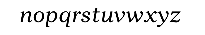 Gazette Std Italic Font LOWERCASE