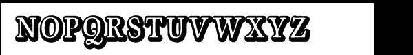 Geist Shadow Font UPPERCASE