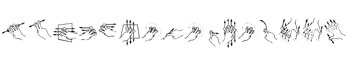 Gesture Glyphs  What Font is