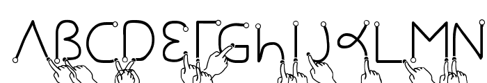 Gesture Hand  What Font is