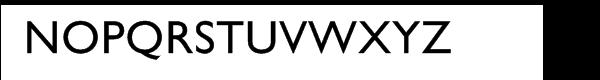 Gill Sans® Cyrillic Font UPPERCASE