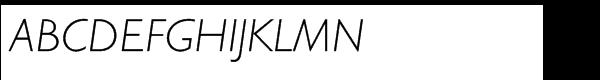 Gill Sans Hellenic Std Light Italic  What Font is