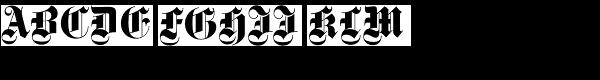 Gotisch EF Bold Dfr  What Font is
