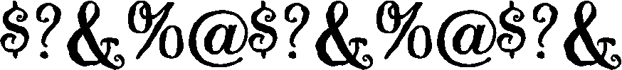 Guedel Script Font OTHER CHARS
