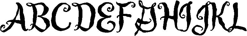 Guedel Script Font UPPERCASE