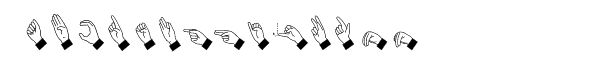 Hand Sign  Free Fonts Download