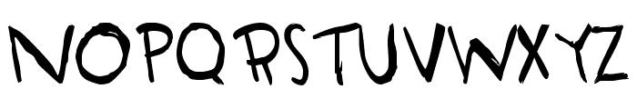 HandORand Font UPPERCASE