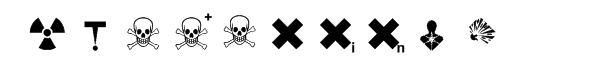 Hazard symbols Font OTHER CHARS