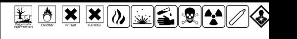 Hazard symbols Font LOWERCASE