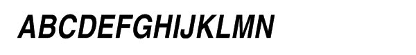 Helvetica® Com Narrow Bold Oblique  What Font is