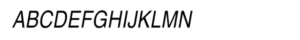 Helvetica® Com Narrow Roman Oblique  What Font is