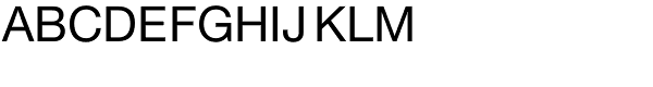 Helvetica Neue Roman Font UPPERCASE