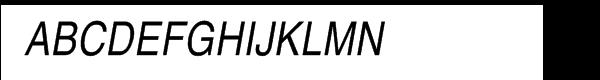 Helvetica® Pro Narrow Roman Oblique  What Font is