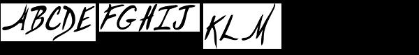 Hemingway's   Shotgun Font UPPERCASE