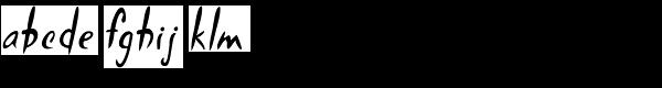 Hemingway's   Shotgun Font LOWERCASE