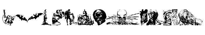 Horror Dingbats Eerie Edition  What Font is