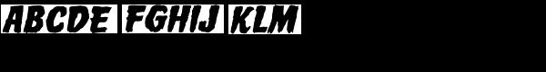 Horror Show Bold Oblique  What Font is