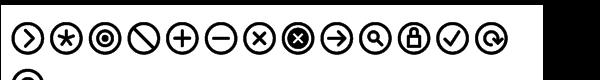 Info Bits Symbols  What Font is