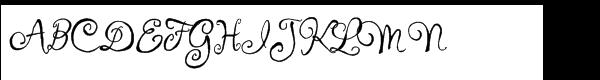 Ingrid Darling ROB Regular Font UPPERCASE