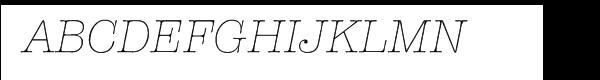 ITC American Typewriter® Light Italic  नि: शुल्क फ़ॉन्ट्स डाउनलोड
