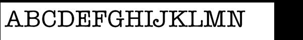 ITC American Typewriter™ Std Medium  What Font is