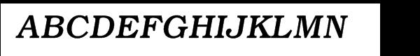 ITC Bookman® Medium Italic  What Font is
