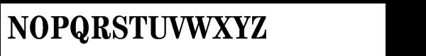 ITC Century® Std Bold Condensed Font UPPERCASE