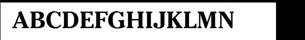 ITC Cheltenham Pro Bold Font UPPERCASE