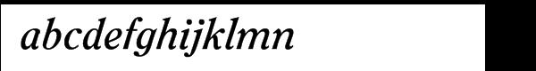 ITC Clearface Pro Bold Italic Font LOWERCASE