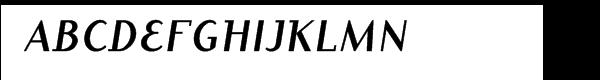 ITC Dyadis™ Bold Italic  What Font is