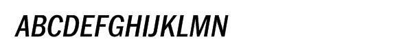 ITC Franklin™ Pro Narrow Medium Italic  What Font is