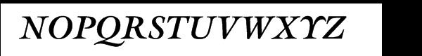 ITC Galliard® Bold Italic Font UPPERCASE