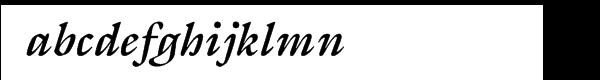 ITC Galliard® Bold Italic Font LOWERCASE