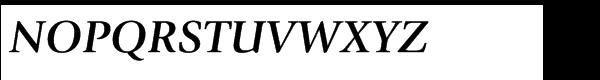 ITC Giovanni® Std Bold Italic Font UPPERCASE