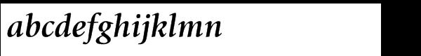 ITC Giovanni® Std Bold Italic Font LOWERCASE